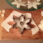 Cutting Sliced Mozzarella into Snowflakes