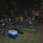 Playing Rock Band while waiting for fireworks