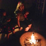 Anna, Angie & Kira Roasting Star-Spangled S'mores