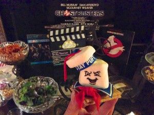 Angry Stay Puft S'more with Ghostbusters Decor