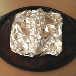Foil tent around the pastry brie for its night in the fridge