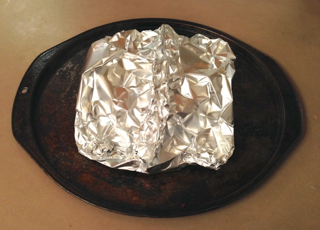 Foil tent around the pastry brie for its night in the fridge & Baked Brie En Croute | Britta Blvd