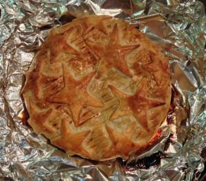 Freshly-Baked Patriotic Brie