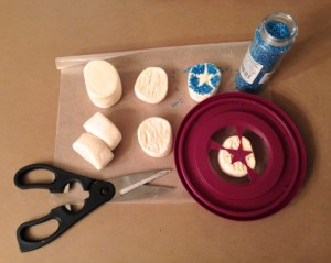 Sugaring Star-Spangled S'mores with Custom Stencil