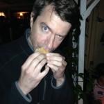 Ian enjoying a Star-Spangled S'more