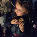 Emma enjoying a Star-Spangled S'more