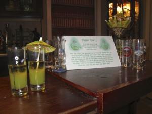 Slimer Shots on the bar