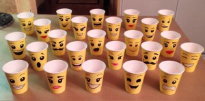 Hand drawn LEGO cups - every one is different!