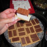 S'mores of the Special with molded chocolate bricks and rectangular homemade marshmallows