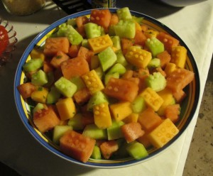 LEGO Brick Melon Salad by Sean & Laura