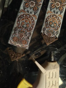 Bookmarks for one of the illuminated manuscripts