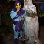 Billy as Skeletor wins Scariest Costume - by Cat