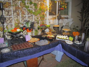 Backyard Food Table by Tash