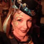 Steampunk makeup in better lighting