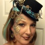 Steampunk Makeup & Fascinator