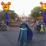 Queen Elsa made it to Disneyland!