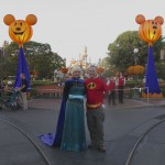 Queen Elsa & Mr. Incredible at Disneyland!