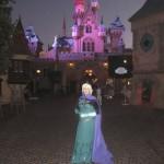Queen Elsa at Sleeping Beauty's Castle