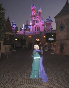Queen Elsa at Sleeping Beauty's Castle