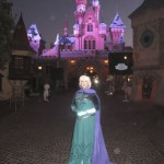 Queen Elsa at Sleeping Beauty's Castle - are those snowflakes? ;)