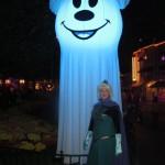Glowing Ghost Mickey Balloon