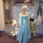 Posing with the decor inside Anna & Elsa's Boutique
