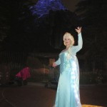 Elsa with the only icy mountain in Disneyland...the Matterhorn!