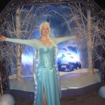 "Back to the Frozen backdrops of course...sure wish the ""professional"" could frame my entire costume though!"