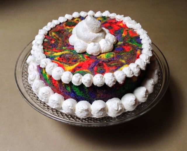 Psychedelic 60s Tie Dye Angel Food Cake Britta Blvd