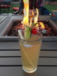 """Flaming"" Mai Tai by the fire pit"