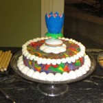 Tie-Dye Angel Food Cake with Crazy Lotus Candle