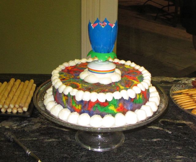 Tie Dye Angel Food Cake With Crazy Lotus Candle Britta Blvd