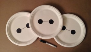 Quick & Easy Baymax Paper Plates