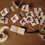 Assembling Hiro Toothpick Flags