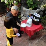 Dino & Little Go-Go Harley make Go-Go Snow Cones