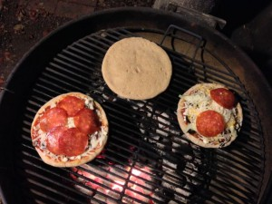 Pizzas on the grill - can you spot Baymax?