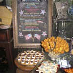 Fireworks & Fun Menu with Declaration of Independence