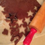 Cutting Chocolate Stars for S'mores