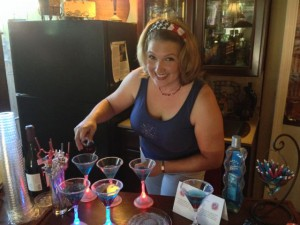 Making so many Razzle-Dazzle-Tinis at once!