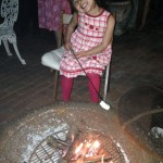 Julianna roasting marshmallows