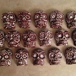 Each chocolate skull was a unique design