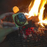 one of many Dia de los S'Muertos on a nicely roasted marshmallow