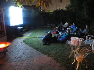 Last outside movie night of 2015! Thanks for another fun summer!