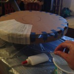 starting sombreros with papier-mâché