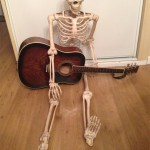 my steel string guitar was a good size for the skeletons