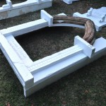 Adding levels for interest, including the old doorway arch
