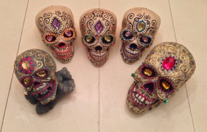 Last batch of decorated skulls