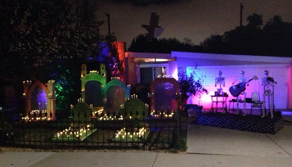 all LED lighting for the graveyard, including the candles!