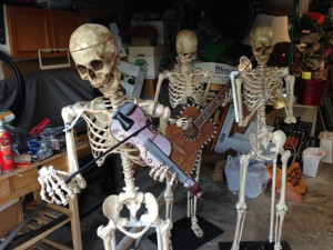All three skeletons ready for jackets, hats and programming!