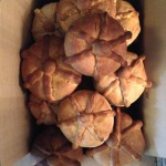 27 loaves of decorative Pan de Muertos from almost 50 pounds of flour